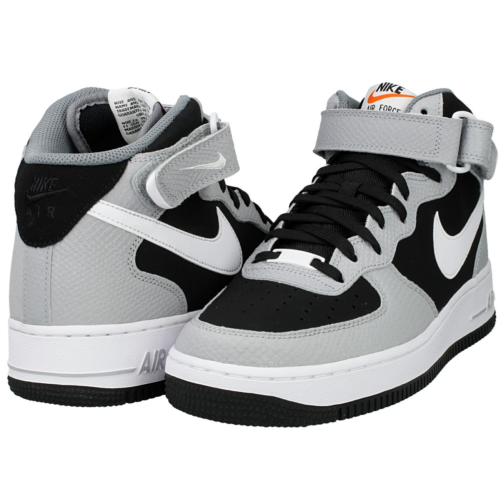 nike air force 1 mid gs czarne