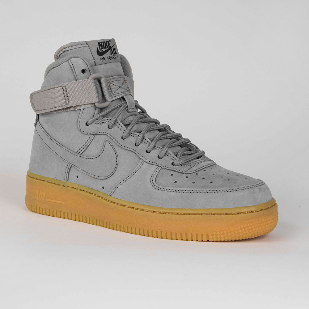 NIKE GS AIR FORCE 1 WB HIGH Zimowe damskie Szary