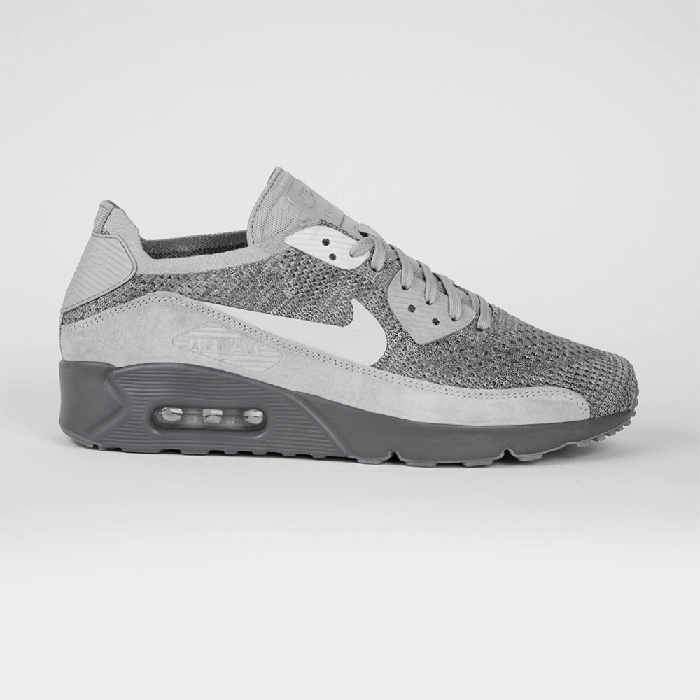 info for eae2a 0dfdd Nike Air Max 90 Ultra 2.0 Flyknit 875943-007 | Szary ⋆ ButyMarkowe.pl