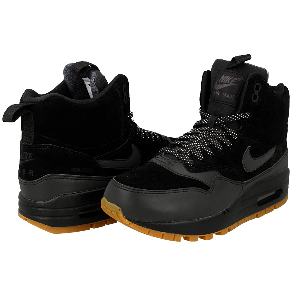 Nike Wmns Air max 1 Mid Sneakerboot Black Black 685267 003